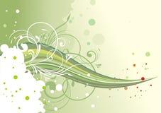 Абстрактная зеленая флористическая предпосылка Стоковое Изображение RF