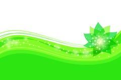 Абстрактная зеленая флористическая предпосылка Стоковые Изображения RF