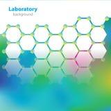 Абстрактная зелен-желтая предпосылка лаборатории. Стоковая Фотография RF