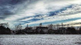 абстрактная зима неба изображения фрактали Стоковое Изображение RF