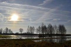 абстрактная зима неба изображения фрактали Стоковые Изображения