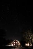 абстрактная зима ночи изображения фрактали Стоковое Изображение