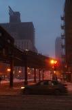 абстрактная зима ночи изображения фрактали Стоковое Изображение RF