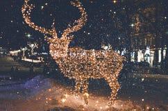 абстрактная зима ночи изображения фрактали Стоковое фото RF