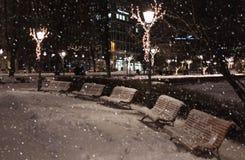абстрактная зима ночи изображения фрактали Стоковые Изображения RF