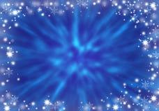 абстрактная зима сини предпосылки снежности заморозок Стоковая Фотография