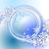 абстрактная зима сини предпосылки Стоковая Фотография
