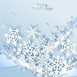 абстрактная зима сини предпосылки Стоковое Изображение