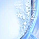 абстрактная зима сини предпосылки Стоковые Фото