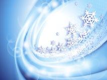 абстрактная зима сини предпосылки Стоковая Фотография RF