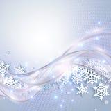 абстрактная зима сини предпосылки Стоковые Фотографии RF
