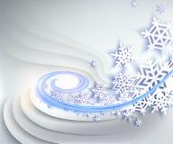 абстрактная зима сини предпосылки Стоковое Изображение RF