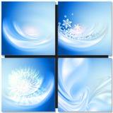 абстрактная зима сини предпосылки Стоковое Фото