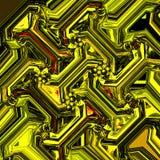 Абстрактная золотая картина для дизайна украшения Картина точек Стоковая Фотография