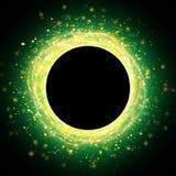 Абстрактная золотая и зеленая предпосылка яркого блеска искры Стоковые Изображения