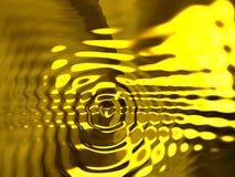 Абстрактная золотая предпосылка пульсаций Стоковое Изображение