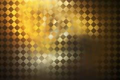 Абстрактная золотая checkered предпосылка grunge Стоковые Изображения