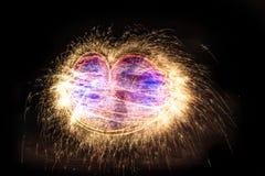 Абстрактная диаграмма огня горя внешней Стоковая Фотография