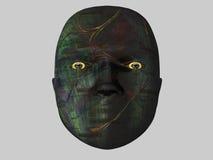 абстрактная изолированная головка 3d Стоковая Фотография