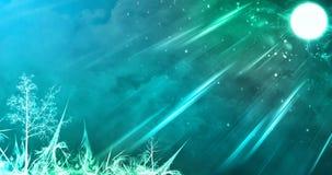 Абстрактная изумительная ноча зимы полнолуния Стоковое Изображение
