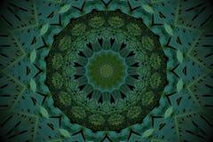 Абстрактная изумрудно-зеленая предпосылка, тропическая картина листьев с Стоковые Изображения