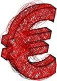 абстрактная икона евро Стоковое Изображение