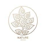 абстрактная икона цветка Стоковые Фотографии RF