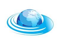 абстрактная иллюстрация глобуса Стоковое Изображение
