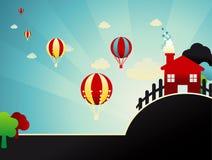 абстрактная иллюстрация глобусов Стоковое Фото