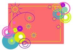 абстрактная иллюстрация рамки формирует векторы Стоковое Изображение