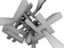 абстрактная иллюстрация решетки 3d Стоковое фото RF