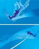 абстрактная иллюстрация windsurfing Стоковое Изображение