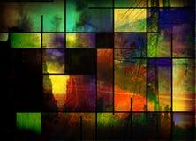 абстрактная индустрия города Стоковое фото RF