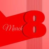 Абстрактная линия иллюстрация eps 10 знамени 8-ое марта Стоковые Изображения RF