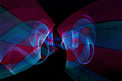 Абстрактная линия от света СИД Стоковое Фото