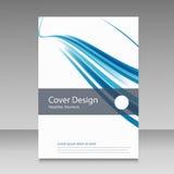 Абстрактная линия шаблон дизайна брошюры Стоковое фото RF