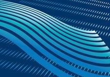 абстрактная исчерченная синь предпосылки Стоковые Фотографии RF