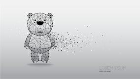Абстрактная иллюстрация вектора медведя Стоковая Фотография