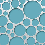 Абстрактная иллюстрация вектора предпосылки круга Стоковые Фотографии RF