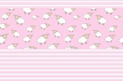 Абстрактная иллюстрация вектора предпосылки овечки Стоковое Изображение