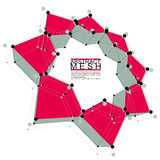 Абстрактная иллюстрация вектора сетки, тема технологии Стоковая Фотография RF