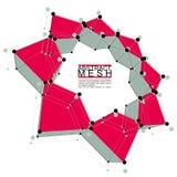 Абстрактная иллюстрация вектора сетки, тема технологии Стоковая Фотография