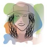 Абстрактная иллюстрация девушки Стоковое Изображение