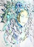 Абстрактная иллюстрация женской стороны Стоковая Фотография RF