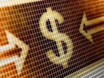 абстрактная иллюстрация иконы доллара предпосылки 3d изолировала белизну Стоковое Фото