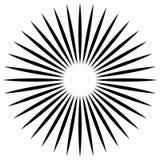 Абстрактная иллюстрация круговой картины с radial, radiati Стоковые Фотографии RF