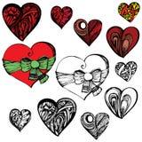 Абстрактная иллюстрация сердца в различных стилях Стоковые Фото