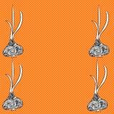Абстрактная иллюстрация с чесноком Стоковая Фотография RF