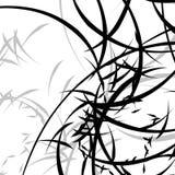 Абстрактная иллюстрация с curvy линиями Случайные динамические линии Пэт Стоковое Фото