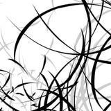 Абстрактная иллюстрация с curvy линиями Случайные динамические линии Пэт Стоковое Изображение